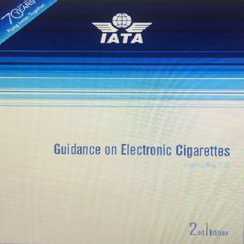 GUIDANCE OF ELECTRONIC CIGARETTES